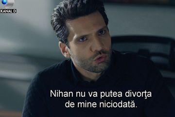 """Emir anunta divortul de Nihan! Planul lui este legat de data aceasta de Zeynep, azi, in """"Dragoste infinita"""", de la 20.00, la Kanal D"""