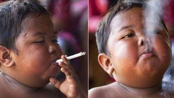 La 2 ani fuma cate 40 de tigari pe zi! Crezi ca s-a lasat? Uite cum arata baiatul asta acum, la varsta de 9 ani