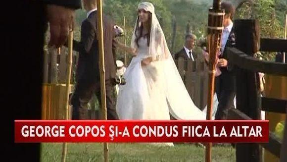 A venit si ziua cea mare pentru George Copos! Si-a condus singura fiica la altar