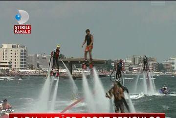 Radu Mazare, SPORT PERICULOS pe litoral VIDEO