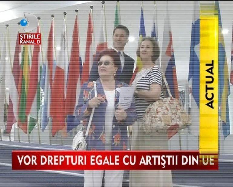Artistii romani si-au sustinut cauza in Parlamentul European VIDEO