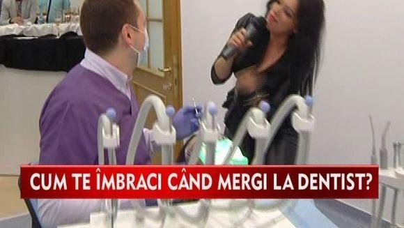 La DENTIST ca la un eveniment monden! Cum a venit imbracata o VEDETA la un cabinet stomatologic VIDEO