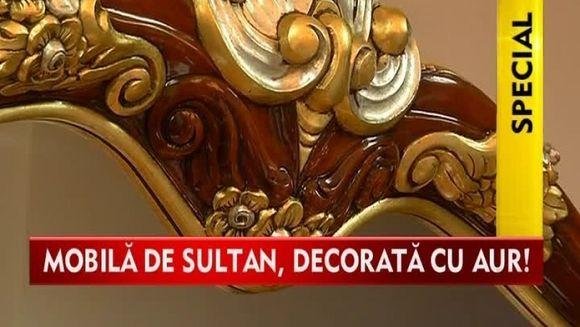 Vrei sa te simti ca un adevarat sultan! Cumpara-ti mobila poleita cu aur sau cu argint VIDEO
