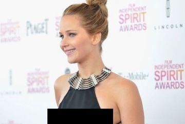 UPS! Jennifer Lawrence cu SFARCURILE LA VEDERE GALERIE FOTO