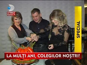 Sarbatoare in familia Kanal D! Silvia Ionita, Bianca Ionita si Mihai Ghita au fost sarbatoriti cu o petrecere surpriza VIDEO