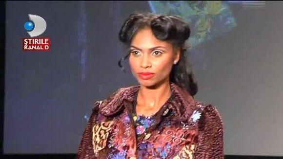 Laurette, la un pas de LESIN la o prezentare de moda! Uite cum s-a clatinat pe podium VIDEO