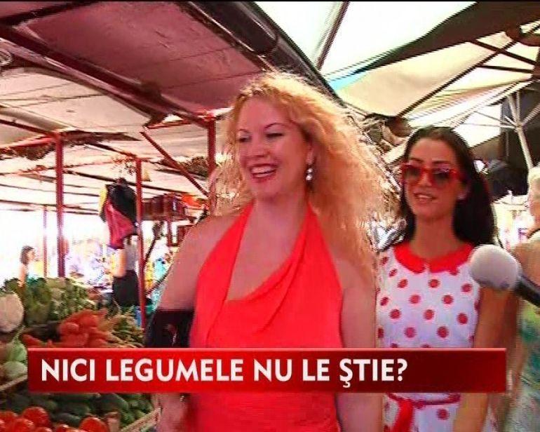 Oana Lis, dezastru la piata. Blonda lui Lis nu recunoaste legumele VIDEO