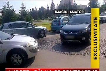 Halal soferita! Andrea Balan, pericol pe sosea VIDEO