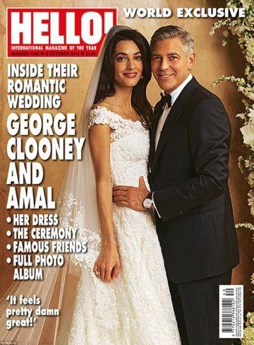Uite ce rochie de mireasa a avut sotia lui George Clooney si ce tort spectaculos au avut cei doi la nunta de vis