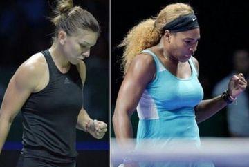 Simona Halep a invins-o pe Serena Williams, la Turneul Campioanelor. Este prima victorie a romancei in fata numarului 1 mondial