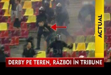 RAZBOI total in tribune la meciul Steaua - Dinamo! Galeriile celor doua echipe s-au luat la bataie