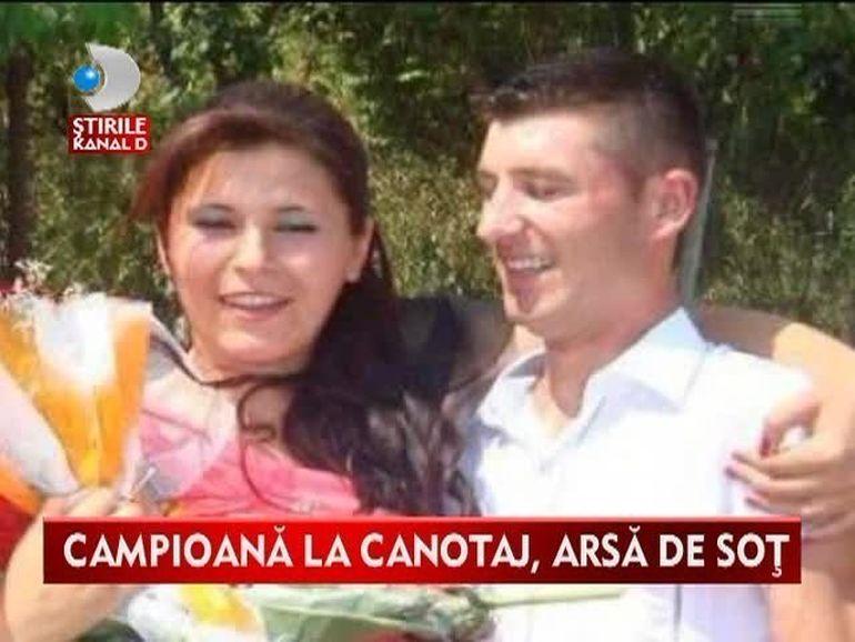 Viata unei foste campioane la canotaj atarna de un fir de ata! Oana Albu se zbate intre viata si moarte dupa ce sotul ei I-A DAT FOC VIDEO