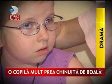 O copila mult prea CHINUITA de boala! Maria ARE NEVOIE de ajutorul semenilor ei VIDEO