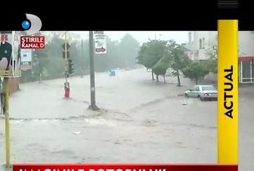 IMAGINI SOCANTE! Inundatiile au facut dezastru in Dobrogea VIDEO
