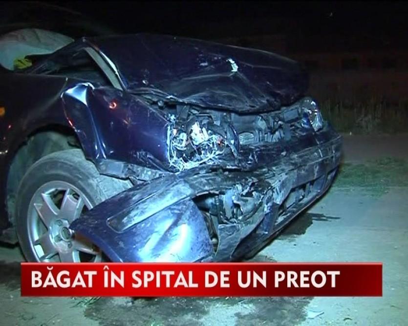 Un preot a bagat in spital un tanar dupa ce l-a izbit in plin cu masina VIDEO