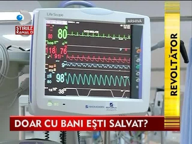 Cine nu are bani nu merita sa traiasca? TOPUL SPAGILOR in spitalele din Romania. Iata ce sume cer medicii pentru a trata pacientii VIDEO