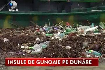 Faleza Dunarii arata ca o imensa groapa de GUNOI! Apele fluviului au adus TONE de gunoaie iar zona ar putea deveni focar de infectie VIDEO