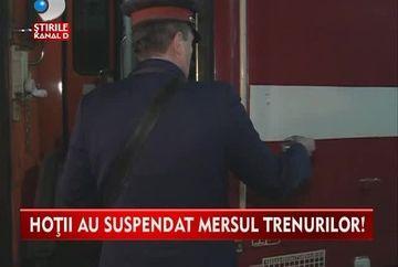 Au facut 2 ore cu trenul de la Bucuresti la Ploiesti! Hotii nu mai au limite: au furat cablurile de cupru de la CFR VIDEO