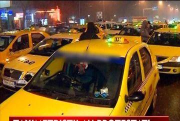Protestul taximetristilor au blocat circulatia timp de doua ore VIDEO