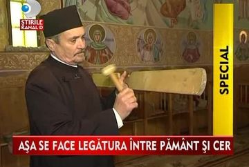 Asa se face legatura intre pamant si cer! Povestea preotului care organizeaza concursul international de batut toaca VIDEO