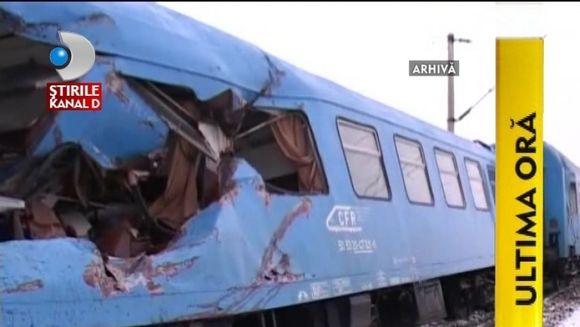 ACCIDENT FEROVIAR la Fetesti. Un tren PLIN CU PASAGERI A DERAIAT VIDEO