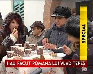 Satenii din Comana i-au facut lui Vlad Tepes pomana ca la carte! VIDEO