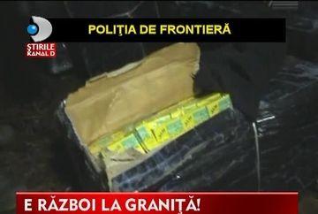 E RAZBOI la granita! Confruntarile dintre traficantii de tigari si politistii de frontiera se incheie cu gloante VIDEO