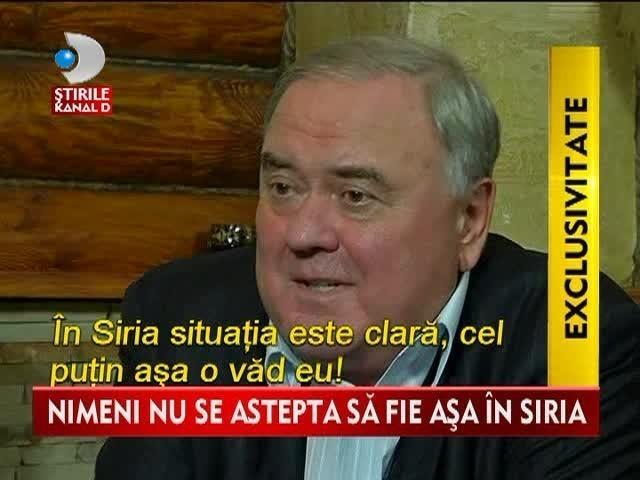 "Alexander Kondiakov: ""In Siria nu exista opozitie!"" Interviu IN EXCLUSIVITATE pentru Stirile Kanal D VIDEO"