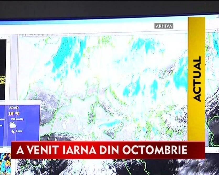 Meteorologii anunta zapada pana la sfarsitul lunii. Autoritatile au luat deja masuri ca zapada sa nu-i ia pe nepregatite VIDEO
