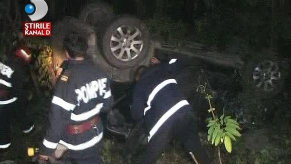 Accident devastator! Un om a murit, cinci au fost raniti si trei masini facute praf VIDEO