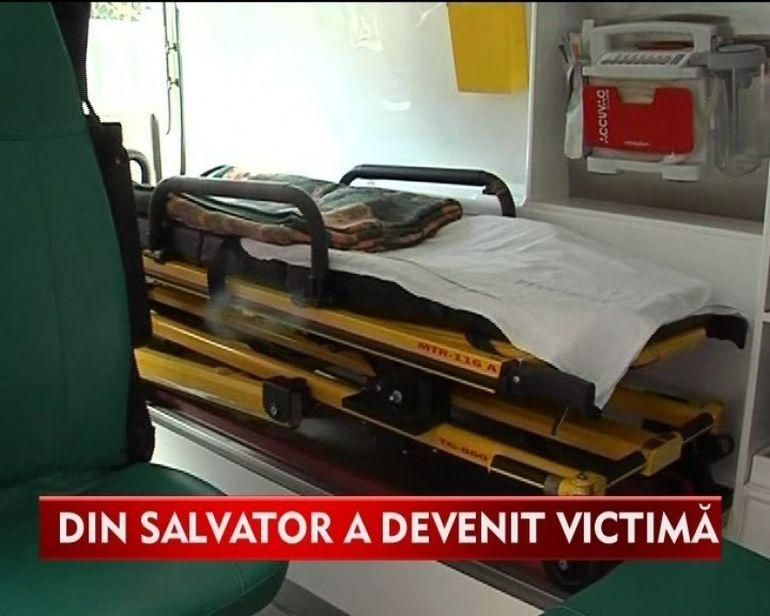 Asistenta de pe ambulanta, injunghiat de o pacienta! VIDEO