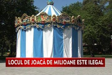 Parc de joaca de 2 milioane de euro, amplasat ilegal VIDEO