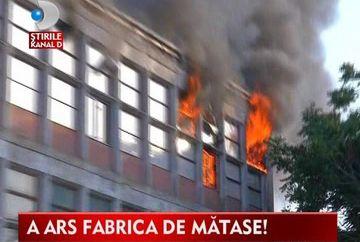 Incendiu puternic in Capitala la fosta fabrica Matasea Populara VIDEO