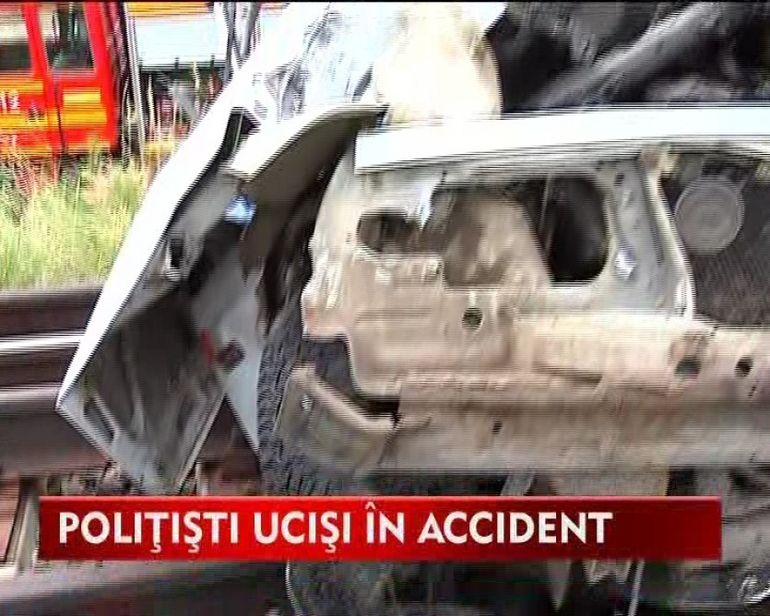 Doi politisti morti si unul raniti in urma unui accident VIDEO