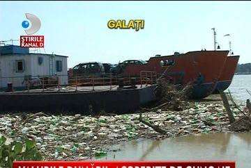Faleza Dunarii din Galati, INGROPATA in gunoaie VIDEO