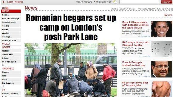 Iar ne-am facut DE RAS! Un grup de cersetori romani si-a facut tabara in centrul Londrei