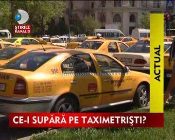 STIREA ZILEI: Sute de taximetristi au protestat in Bucuresti VIDEO