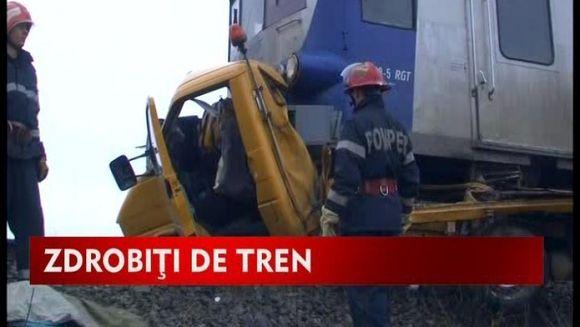 Impact catastrofal pe o cale ferata din judetul Iasi! VIDEO