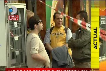 Jaf de proportii la o casa de schimb valutar din Bucuresti VIDEO