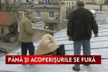 Romania, tara tuturor posibilitatilor. Se fura pana si acoperisurile de pe case! VIDEO