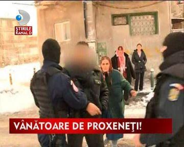 Descinderi in forta in Bucuresti. Procurorii DIICOT au anihilat o retea de proxeneti VIDEO