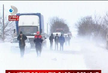 Ninge abundent in nordul tarii. Anumite portiuni din drum sunt inchise VIDEO