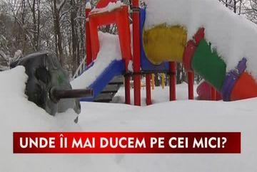 Locurile de joaca pentru copii, ingropate in nameti VIDEO