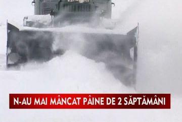 Sate intregi din Moldova au ramas izolate si fara alimente!