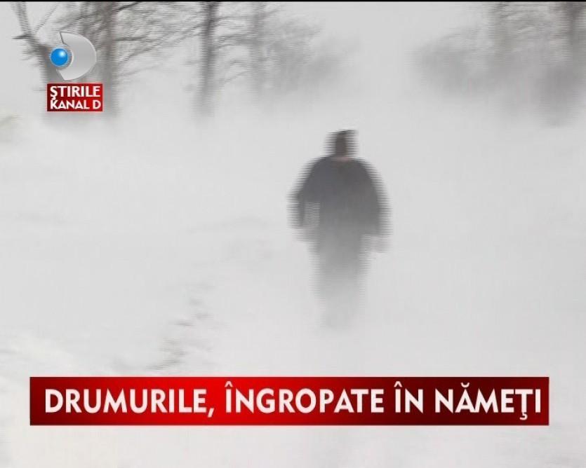 Sudul tarii, cel mai afectat de ninsori si viscol VIDEO