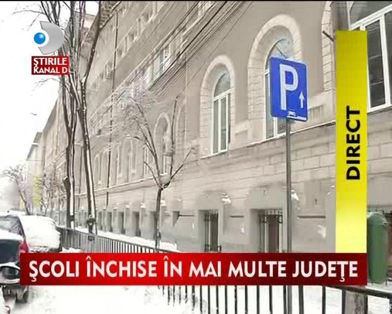 Scoli inchise in mai multe judete din cauza vremii VIDEO