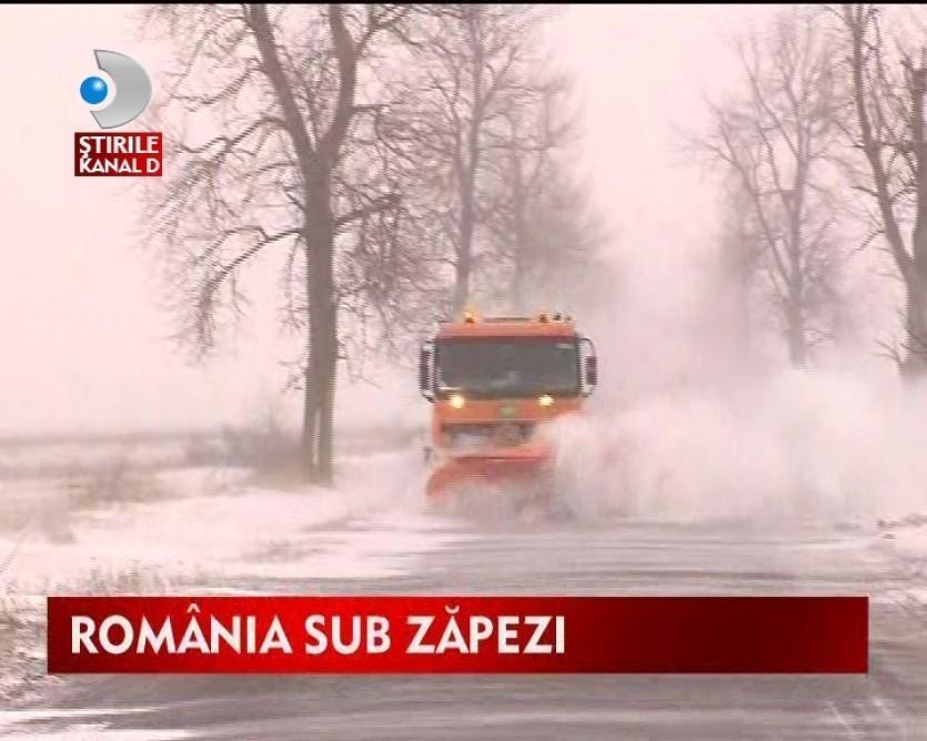 Romania sub zapada. Se asteapta noi avertizari meteo VIDEO