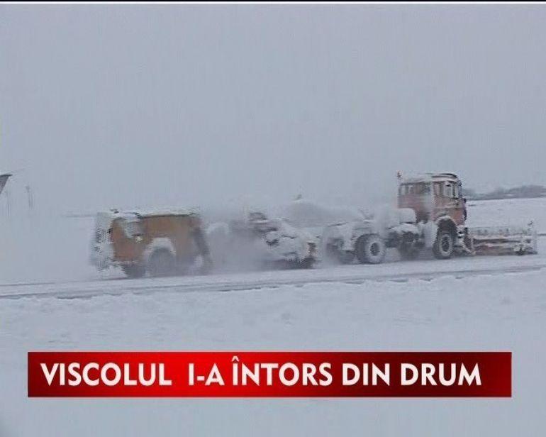 Traficul aerian, afectat de ninsoare si viscol! VIDEO