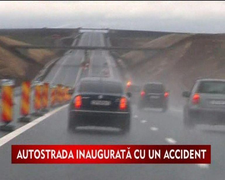Primul accident pe noua autostrada Arad-Timisoara VIDEO
