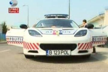 Bolidul Politiei a fost tras pe dreapta din lipsa de cauciuri de iarna VIDEO